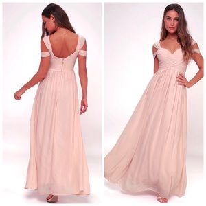 Lulu's Make Me Move Blush Pink Maxi Dress